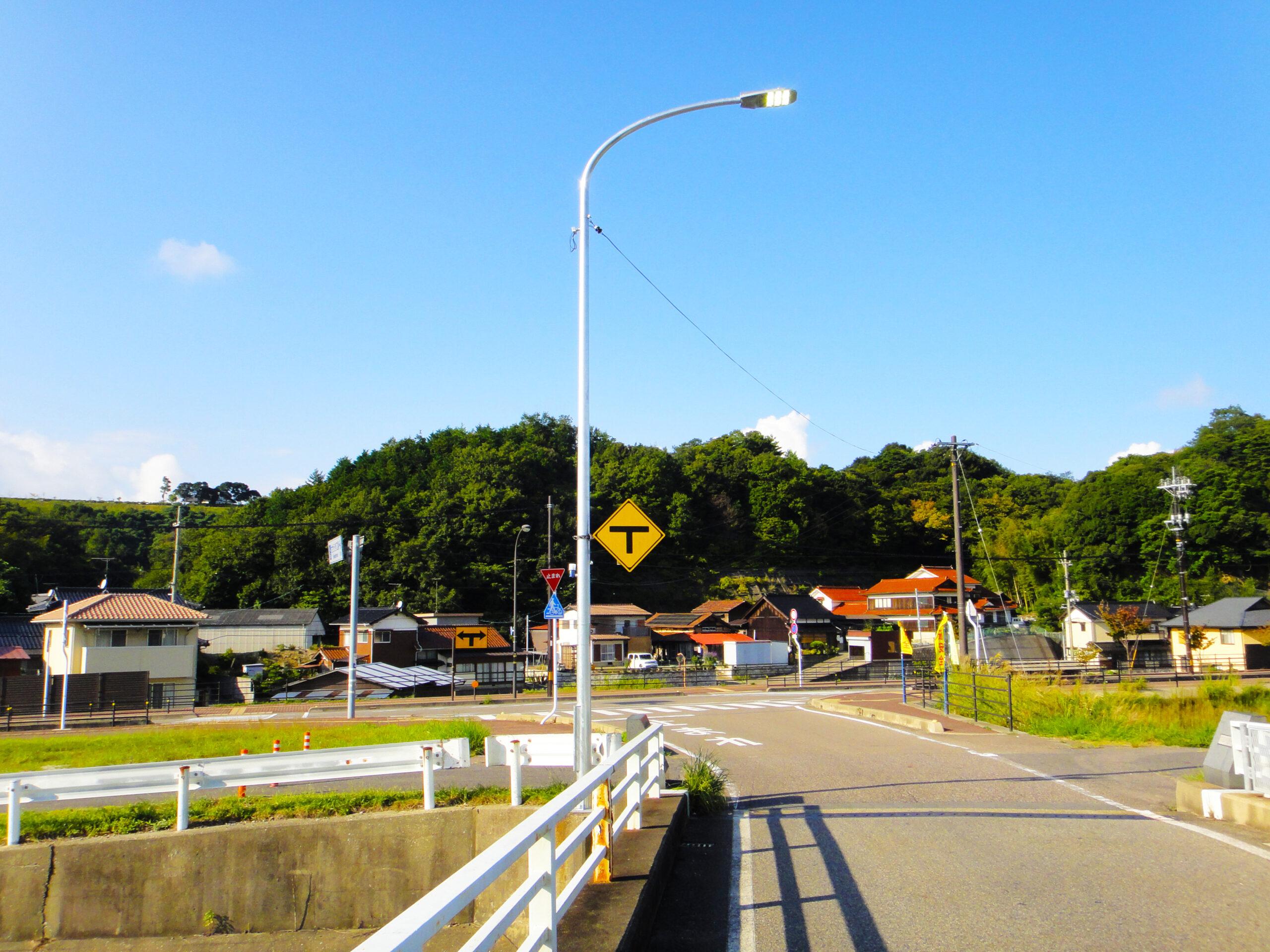 道路照明更新工事