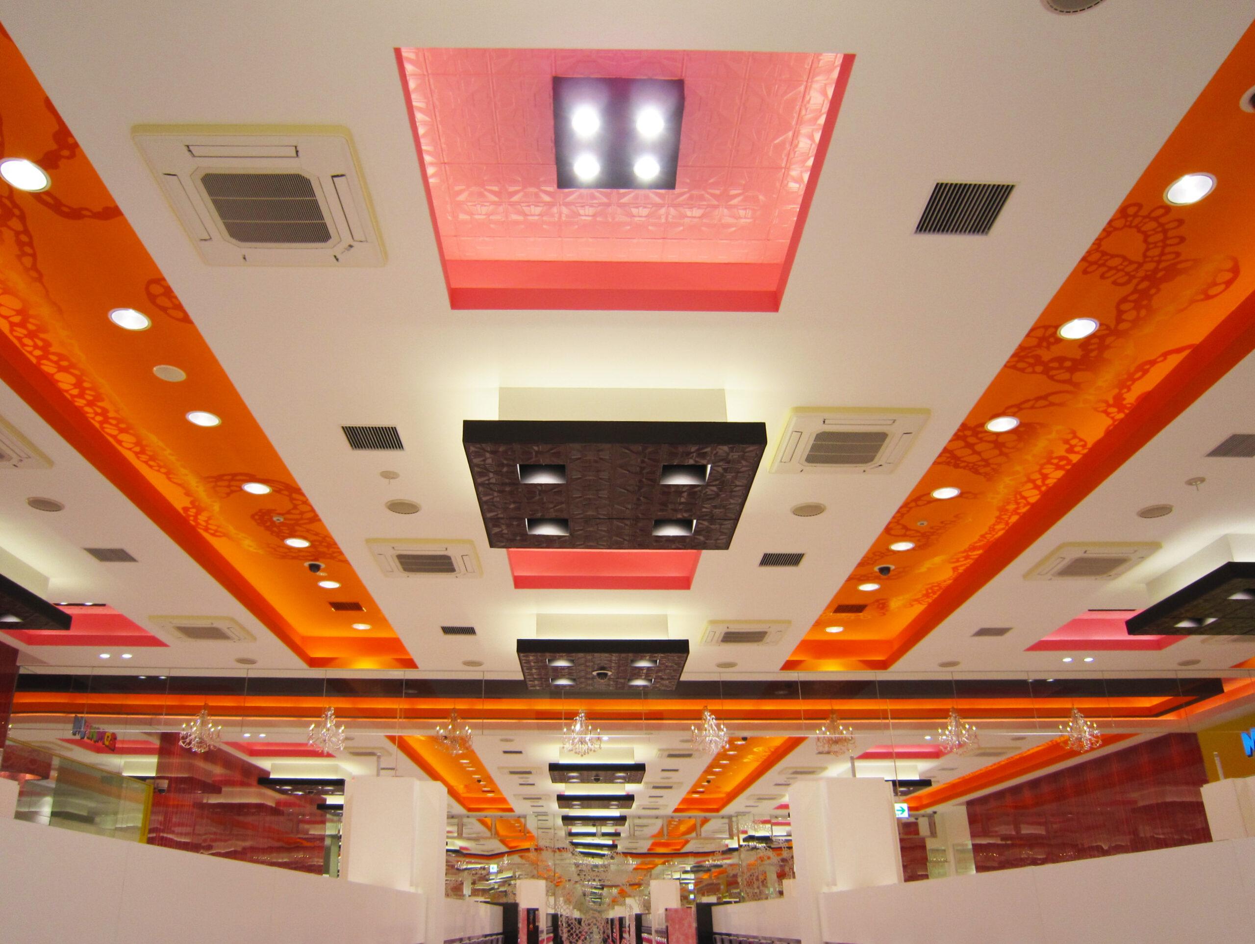 アミューズメントホール新築電気設備工事