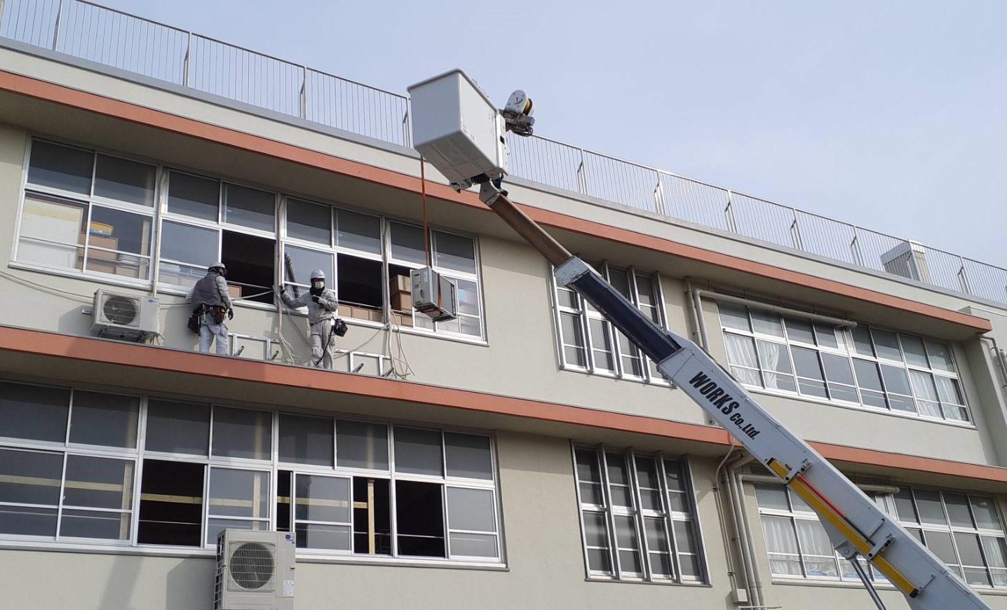 学校空調機 更新工事